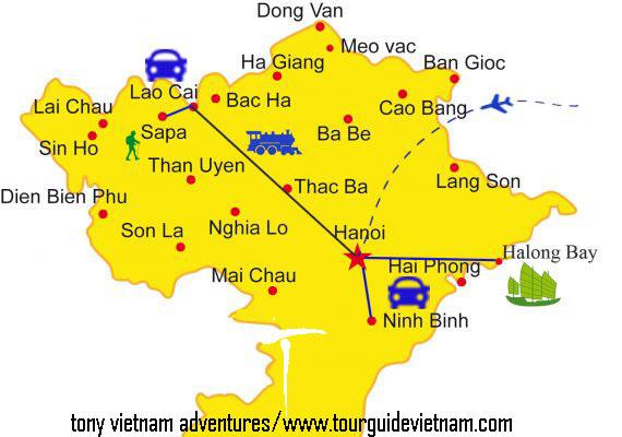 North vietnam map 123 Ba Be 8211 Ban Gioc waterfall Tour 4 Days from Hanoi