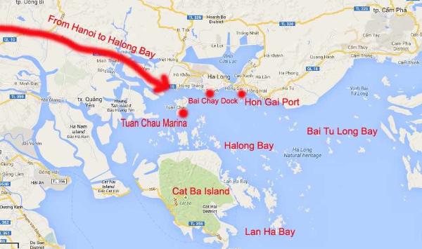Halong Bay map region