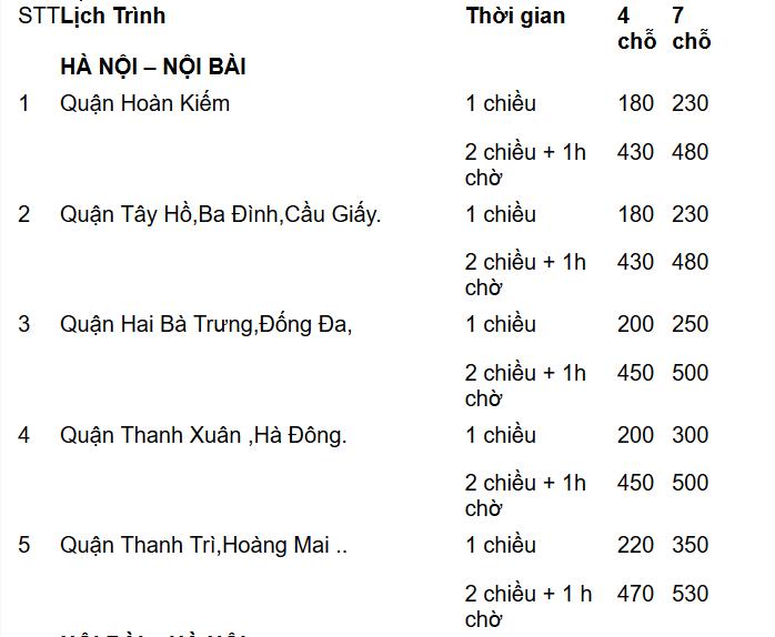 Screenshot 2020 06 05 Taxi N i B i Pick Up Service Xe i N i B i 2 chi u gi r