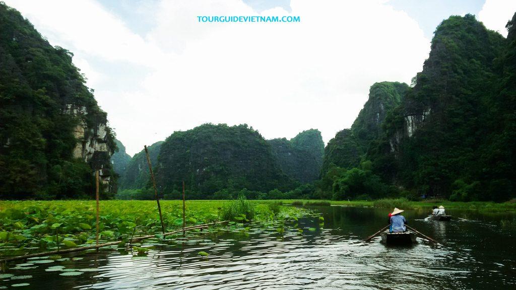 Boat trip in Ninh Binh 1024x576 5 day tour around North Vietnam Off the beaten track
